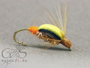 Beetle foam trout orange tag D-114