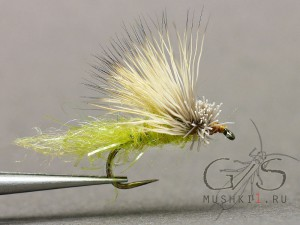 Deer hair caddis emerger (Green) D-108
