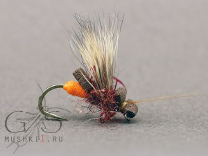 Foam caddis mini (Brown) D-120