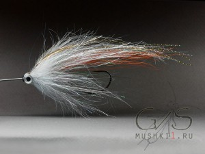 Tube streamer (white-silver-orange) S-44