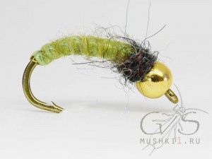 Vinyl rib nymph (Green) N-120