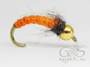 Vinyl rib nymph (Orange) N-118