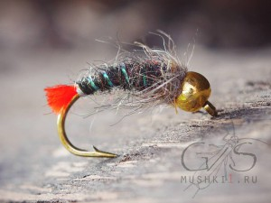 Gold head nymph (Red tag) №70