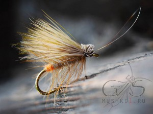 Hair caddis fly (Orange Tag) D-46