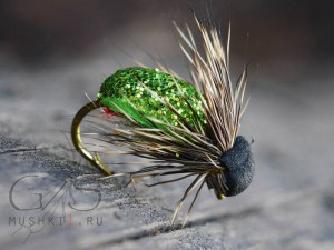 Beetle crystal (Green) D-150