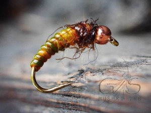 Caddis Pupa (Old yellow) N-125