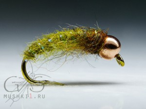 Caddis nymph (Olive) N-134