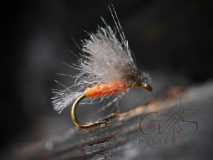 Mayfly CDC fiber wing (Orange) D-144