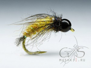 Caddis pupa (Old yellow) N-50