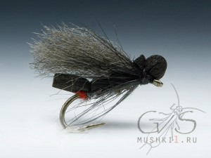 Foam caddis fiber wing (Black) D-6