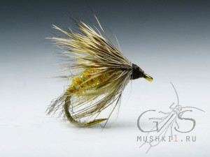 Hair caddis emerger (Old yellow) D-173