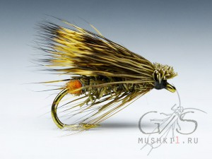 Natural deer hair caddis (Olive) D-101