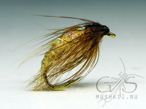 Bright caddis pupa (Sand) W-30