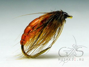 Caddis pupa (Orange) W-31