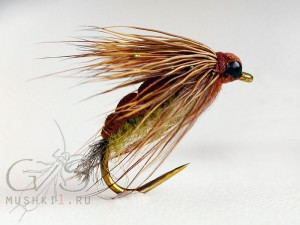 Foam caddis emerger (Brown-Olive) D-47