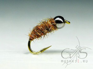 Mini cased caddis (Brown) N-67