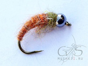 Rabbit Larva  (Orange-Olive) N-84