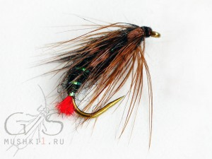 Wet fly red tag (Black) W-21